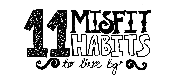 Misfit lettering header